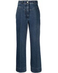 Alberta Ferretti High-waisted Wide-leg Jeans - Blue