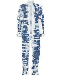 Stella McCartney - Tie-dye Bleached Denim Boilersuit - Lyst