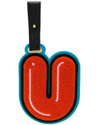 Chaos Letter U luggage Tag - Yellow