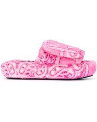 Natasha Zinko Bandanna Slides - Pink