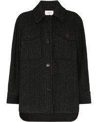 Étoile Isabel Marant Garvey Oversized Wool Coat - Black