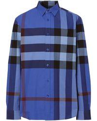 Burberry Chemise à carreaux - Bleu