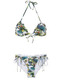 Amir Slama - Tropical Pattern Bikini Set - Lyst