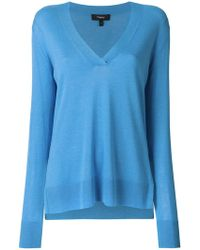 Theory - V-neck Sweater - Lyst