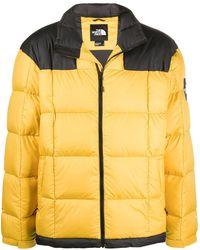 The North Face Doudoune Lhotse colour block à logo - Jaune