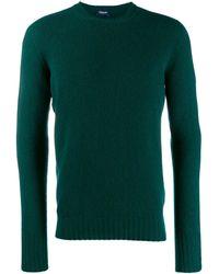 Drumohr Pullover mit Rundhalsausschnitt - Grün