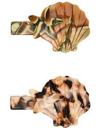 Valet Studio Leila Hair Clips - Brown