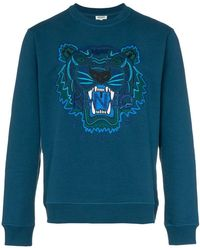 KENZO - Tiger Embroidered Jumper - Lyst