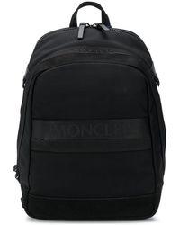 Moncler ロゴテープ バックパック - ブラック