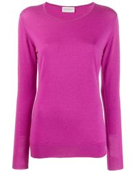 John Smedley Geranium Round Neck Sweater - Purple