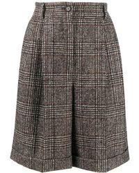 Dolce & Gabbana Geruite Shorts - Wit