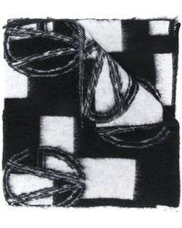 Versace Écharpe à logo GV - Noir