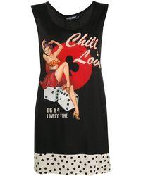 Dolce & Gabbana 'Chill and Love' Oversized-Top - Schwarz