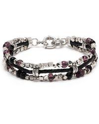 Gas Bijoux Bracelet Cielo Ever à perles - Violet