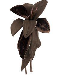P.A.R.O.S.H. Flower Brooch - Brown