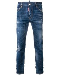 DSquared² - Sexy Twist Distressed Jeans - Lyst