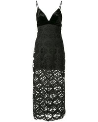 Manning Cartell - Lace-embroidered Midi Dress - Lyst