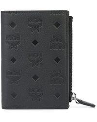 MCM モノグラム 財布 - ブラック