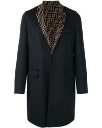 Fendi Однобортное Пальто - Черный