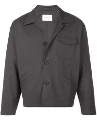 Second/Layer Buttoned Jacket - Gray
