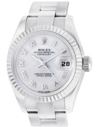 Rolex Pre-owned Datejust Horloge - Wit