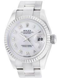 Rolex Montre Datejust 26mm - Blanc