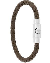 Ferragamo - Woven Press-clasp Bracelet - Lyst
