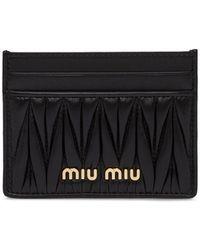 Miu Miu マテラッセ カードケース - ブラック