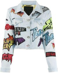 Philipp Plein Джинсовая Куртка С Нашивкой-логотипом - Синий
