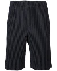 Homme Plissé Issey Miyake - Pleated Slim Shorts - Lyst