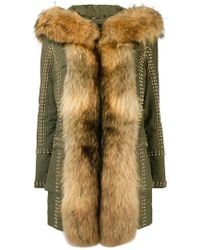 Philipp Plein - Fur Trimmed Coat - Lyst