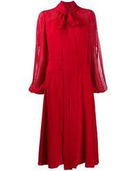 N°21 Платье Миди С Бантом - Красный