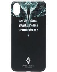 Marcelo Burlon Coque d'iPhone X Wings - Noir