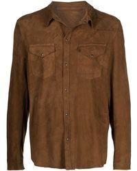 Salvatore Santoro ウエスタン シャツジャケット - ブラウン