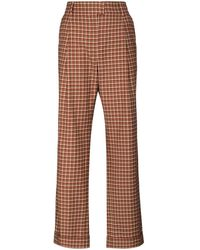 Wales Bonner Brixton High-waist Check Trousers - Red