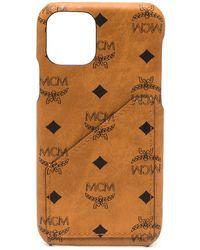 MCM Чехол Для Iphone 11 С Логотипом - Коричневый