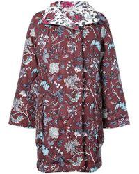 Diane von Furstenberg - Patterned Padded Coat - Lyst