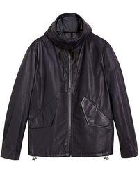 Burberry - Paper-light Lambskin Hooded Jacket - Lyst