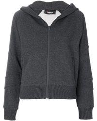 Jo No Fui Zip Up Jacket - Gray