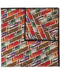 Lanvin All-over Logo Print Scarf - Orange