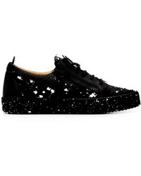 Giuseppe Zanotti Gail Python Effect Sneakers - Black