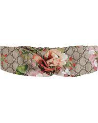 Gucci - Blooms Print Silk Headband - Lyst