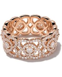 De Beers - 18kt Rose Gold Enchanted Lotus Mother-of-pearl And Diamond Band - Lyst