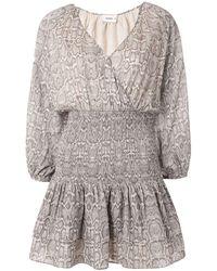 Suboo Sylvie Shirred Waist Mini Dress - Grey
