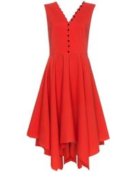 ADEAM - Handkerchief Hem Wool Dress - Lyst