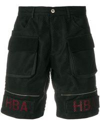 Hood By Air Mesh Cargo Shorts - Black