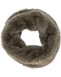 Yves Salomon Rabbit Fur Snood - Green