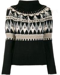Twin Set Fairisle Knit Jumper - Black