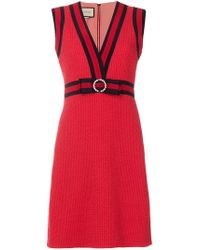 Gucci - Gg Web Shift Dress - Lyst