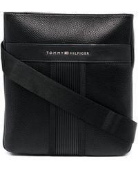 Tommy Hilfiger ロゴ メッセンジャーバッグ - ブラック